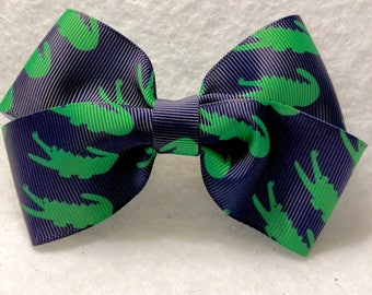 Girly Preppy Gator Bow