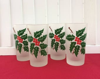 Set of 4 Christmas Glasses