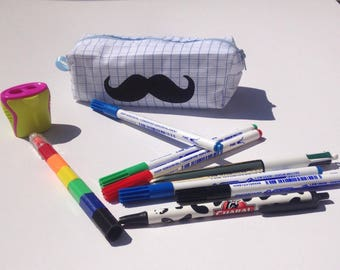 Pocket notebook with cotton mustache theme