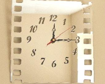 Film Strip Mirror Clock - 2 Sizes