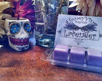 Lavender Flowers Spring Tarts Soy Wax Clamshell