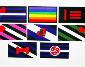 Pride Magnets: BDSM, Master slave, Gay, Leather, Leather Girl, Leather Boy, Bootblack, Puppy