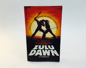 Vintage Pop Culture Book Zulu Dawn by Cy Endfield 1980 Movie Tie-In Edition Paperback