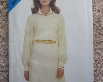 UNCUT Misses Dress - Size 8 to 12 - Butterick Sewing Pattern 3882 - Vintage