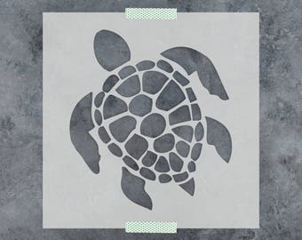 Turtle Stencil - Reusable DIY Craft Stencils of a Turtle