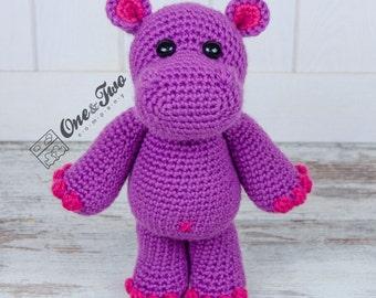 Pip the Hippo Amigurumi - PDF Crochet Pattern - Instant Download - Amigurumi crochet Cuddy Stuff Plush
