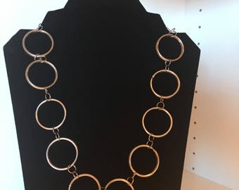 Large Connected Circles Necklace