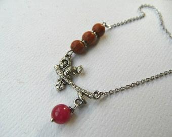 Squirrel choker necklace, squirrel necklace, forest necklace, autumn necklace, exotic wood necklace