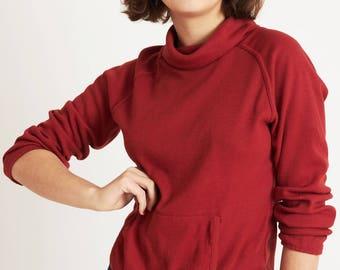 Sweatshirt with Mock Turtleneck