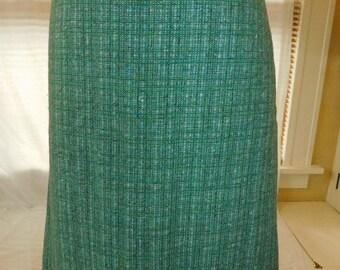 Vintage Nubby Wool Skirt
