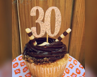 30th birthday cupcake toppers, 30th birthday, 30th birthday party, 30th bday decor, birthday decorations, 30