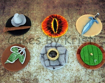 Lord of the Rings/The Hobbit Cupcake Toppers: Set of 6 (MADE TO ORDER)