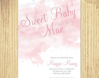 Musical Baby Shower Invites