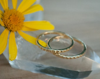 Thin Gold Vermeil Ring* Stackable Ring* Delicate * Simple * Everyday * Gift for her *Hippie * Boho *Thin gold band * Stack BJR120B