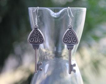 Key of Love Earrings