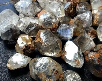 8 Herkimer Diamond Quartz Crystal w/ Rainbow Iris's. Wire Wrapping Size