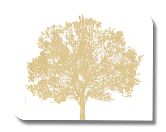Paper napkin for decoupage, mixed media, collage, scrapbooking x 1. No. 1169 Gold tree