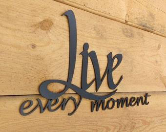 Metal Wall Art, Words, Live, Laugh, Love, Wall Decor