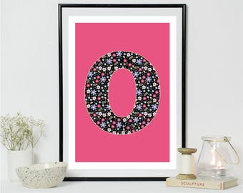 Letter O Alphabet A4 Print Digital Print
