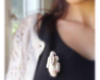 The little forest dweller brooch