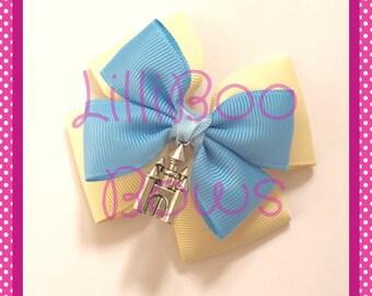 Cinderella Castle Disney World Inspired Hair Bow / Bag Charm