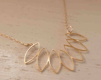 Gold Geometric Necklace - Gold Filled Necklace - Gold Necklace - Minimal Gold Necklace - Delicate Necklace - Simple Gold Necklace - BFF Gift