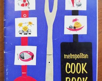 Vintage Cookbook 1950s Advertising Booklet:  Metropolitan Cook Book 1957