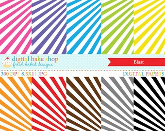 digital papers stripes - Blast Digital Papers