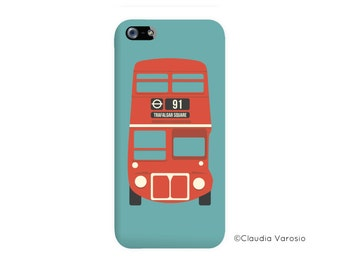 London bus illustrated Iphone case