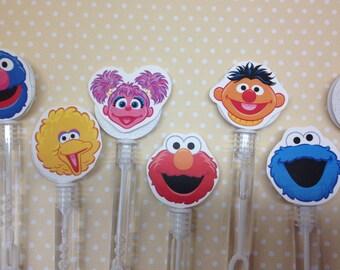 Sesame Street Party Favor Bubbles - Set of 10