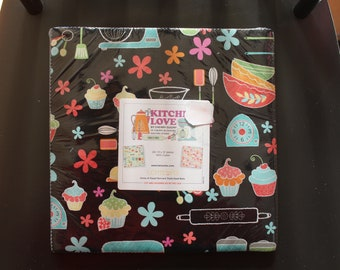 "Kitchen Love Layer Cake by Cherry Guidry for Benartex (Contempo) - (42) 10""x10"" Squares"