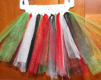 Black, Red, Green, and White Princess Tutu. Perfect for Christmas.