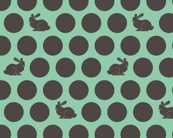 Dots and Bunnies - Fox Field - Fox Field Hoppy Dot in Shade by Tula Pink for Free Spirit - Fabric By the Half Yard