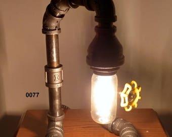 Industrial Pipe Lamp, Edison Lamp, Desk Lamp, Table Lamp