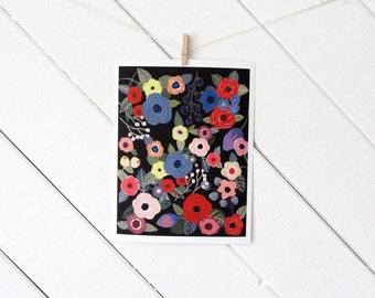 Flower Melody Art Print - gouache reproduction