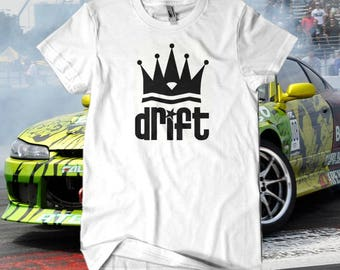 DRIFT KING T-SHIRT / / Premium Quality ! - Made in London / Fast Delivery to the Usa , Canada , Australia & Europe !