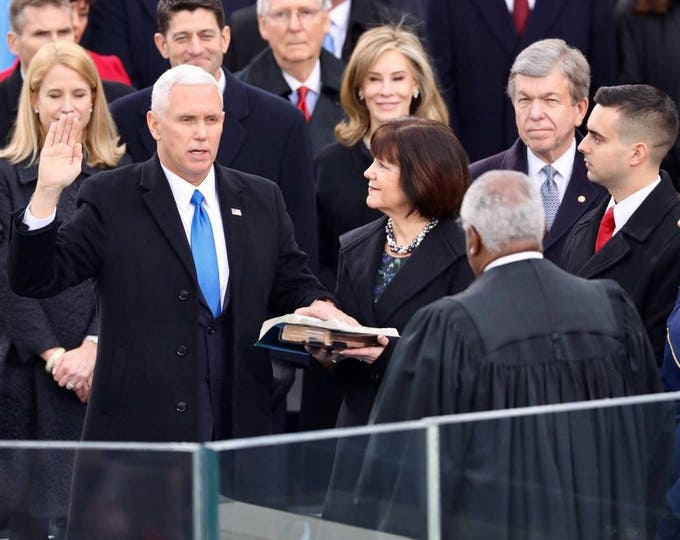 Mike Pence Is Sworn in as 48th Vice President of the United States - 5X7, 8X10 or 11X14 Photo (ZY-723)