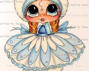 INSTANT DOWNLOAD 5  Digital Digi Stamps Big Eye Big Head Dolls Digi  IMG384 By Sherri Baldy