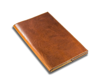 Refillable Leather Journal with Moleskine Cahier Refills