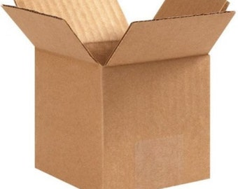 "6""x4""x4"" Corrugated Cardboard Shipping Boxes"