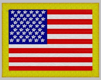 American Flag Embroidery File