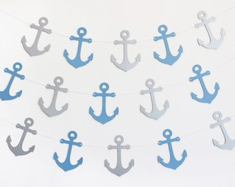 Anchor Nautical Party Banner - Customizable Colors