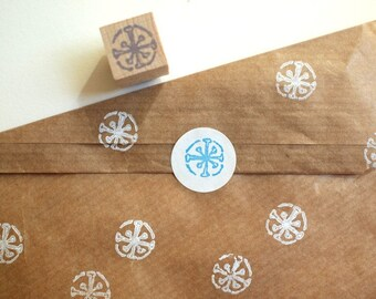 snowflake - mini stamp - 15x15mm - by SiebenMorgen