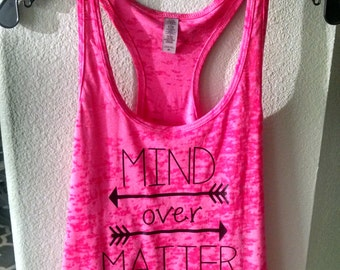 Mind Over Matter fitness tank in multiple colors