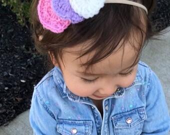 Triple stacked hearts, headband, hair accessories, girly