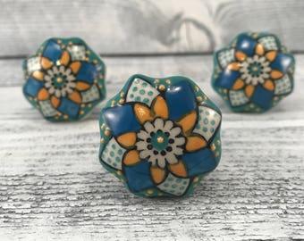 Ceramic Knob Decorative Cabinet Upgrade Knobs, Craft Supply, Hand Painted Drawer Pulls, Item #538015570