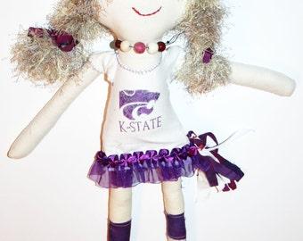 "K-State Cali - 17"" Cheerleader Cloth Doll"