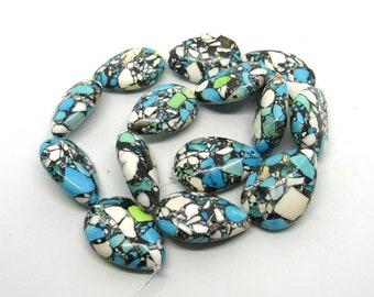 1 Strand Ocean Jasper Teardrop Gemstone Beads 30x20mm (B506h)