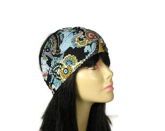 Boho Head Wrap Boho Headband Paisley Print Head Wrap Paisley Head Wrap Paisley Headband Lycra Head Wrap Wide Head Wraps Wide Headband