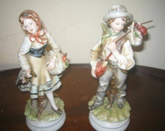 Lefton china figurines Country Couple  kw4055